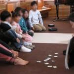 ジョイキッズでの聖書の学びの時間